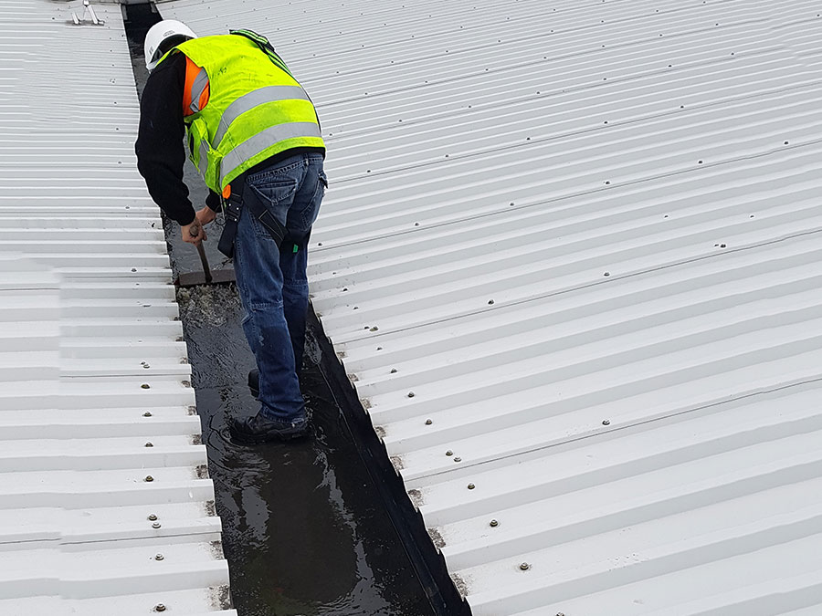 Gutter maintenance at Roofclad